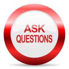 ask questions glossy web icon