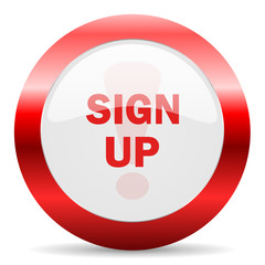 sign up glossy web icon