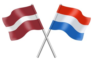 Flags : Latvia and Luxembourg