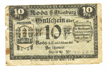 old German Reichsmarks, 10-30 years of the 20th century