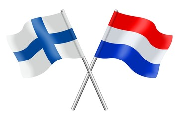 Flags : Finland and the Netherlands