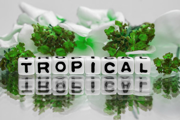 Tropical text with green