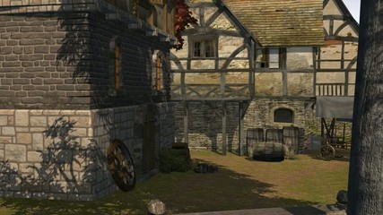 medieval houses - medieval city - video background