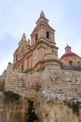 View of Parish Church - Mellieha, Malta