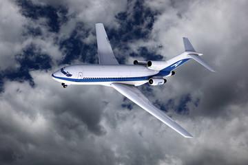 Verkehrsflugzeug im Steigflug
