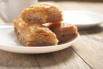 four baklava pieces gourmet concepts