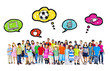 Large Group of Multiethnic Children with Activities
