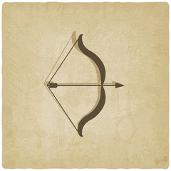 bow and arrow old background