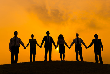 Group of Business People Holding Hand