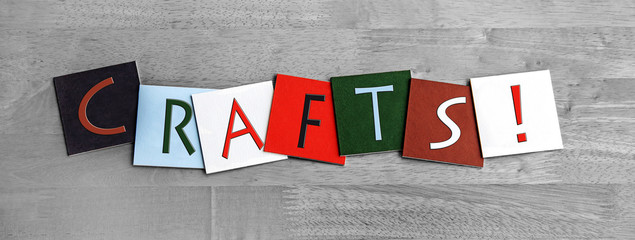 Crafts as a sign for arts and crafts, fetes and shows