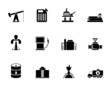 Silhouette Oil and petrol industry icons