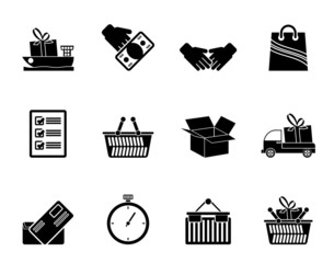 Silhouette Shipping and logistic icons