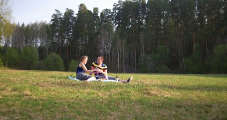 Couple at picnic