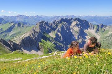 Liegewiese im Hochgebirge