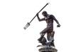 Leinwanddruck Bild - Famous Neptune fountain over white, symbol of Gdansk, Poland
