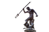 Famous Neptune fountain over white, symbol of Gdansk, Poland
