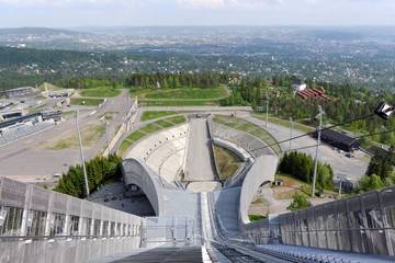 View from ski jumps tower