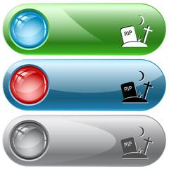 Rip. Vector internet buttons.