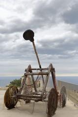 catapulta del Castillo de Santa Bárbara en Alicante