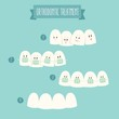 orthodontic treatment (tooth braces) vector illustration