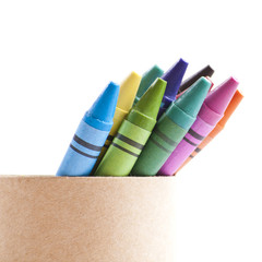 Crayons in box