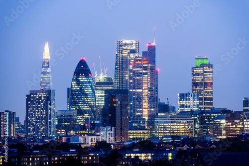 canvas print picture London Skyline