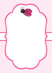 Pink Ladybug Invitation