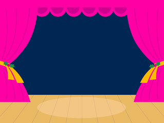 Pink Theater background with copy space