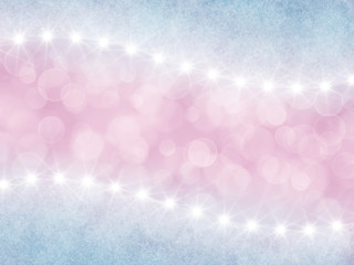 Abstract pink  and lilac background with boke and stars