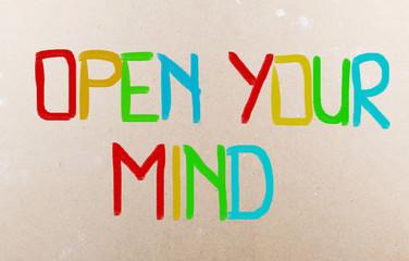 Open Your Mind Concept