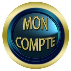 bouton web mon compte, dégradé, bleu et or