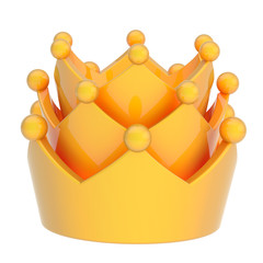 Yellow crown isolated on white