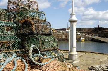 lobster pots at Crail harbour