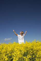 Woman on a Rape Field