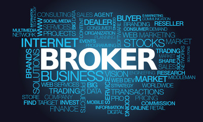 Broker word tag cloud