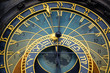 canvas print picture - Detail of the astronomical clock in Prague