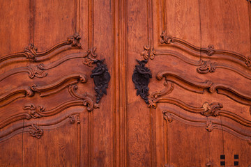 Decorative wooden background - ancient door