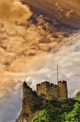 Traditional English Norman Castle Lewes Sussex