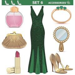 Vector Female Accessories Set 6