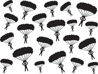 People with parachute background