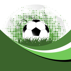 Abstract vector background with soccer ball