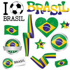collection - Brasil icons and marketing accessories