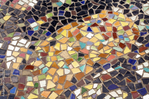 mosaic on floor is old color style
