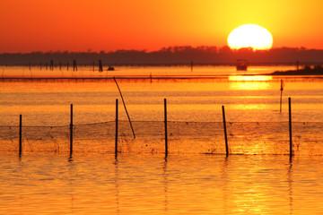 tramonto sacca di goro delta del po
