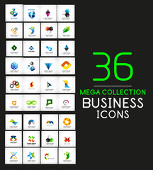Mega collection of vector business icons