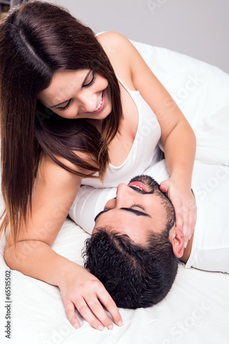 Couple in bed Poster