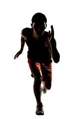 Asian athlete running