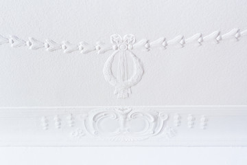 White ceiling stucco