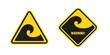 waves hazard sign - 65517955