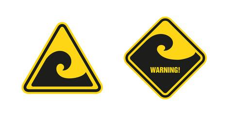 waves hazard sign